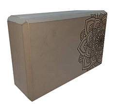 Блок для йоги, растяжки (TS 1698) Оранжевый, фото 2