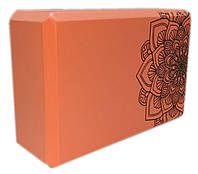 Блок для йоги, растяжки (TS 1698) Оранжевый