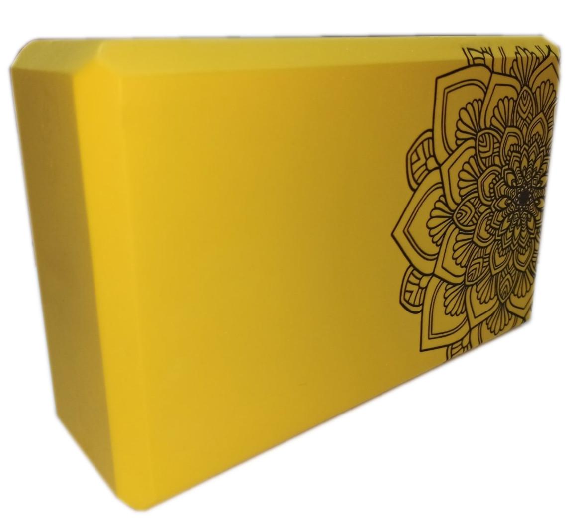 Блок для йоги, растяжки (TS 1698) Желтый