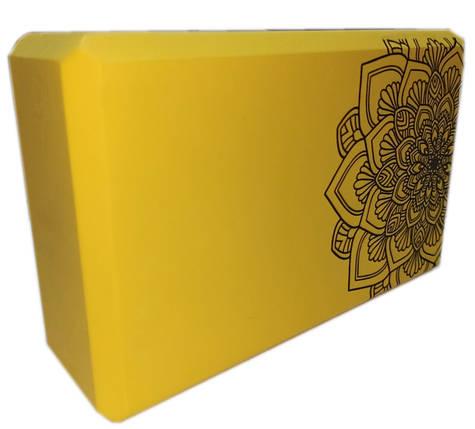Блок для йоги, растяжки (TS 1698) Желтый, фото 2
