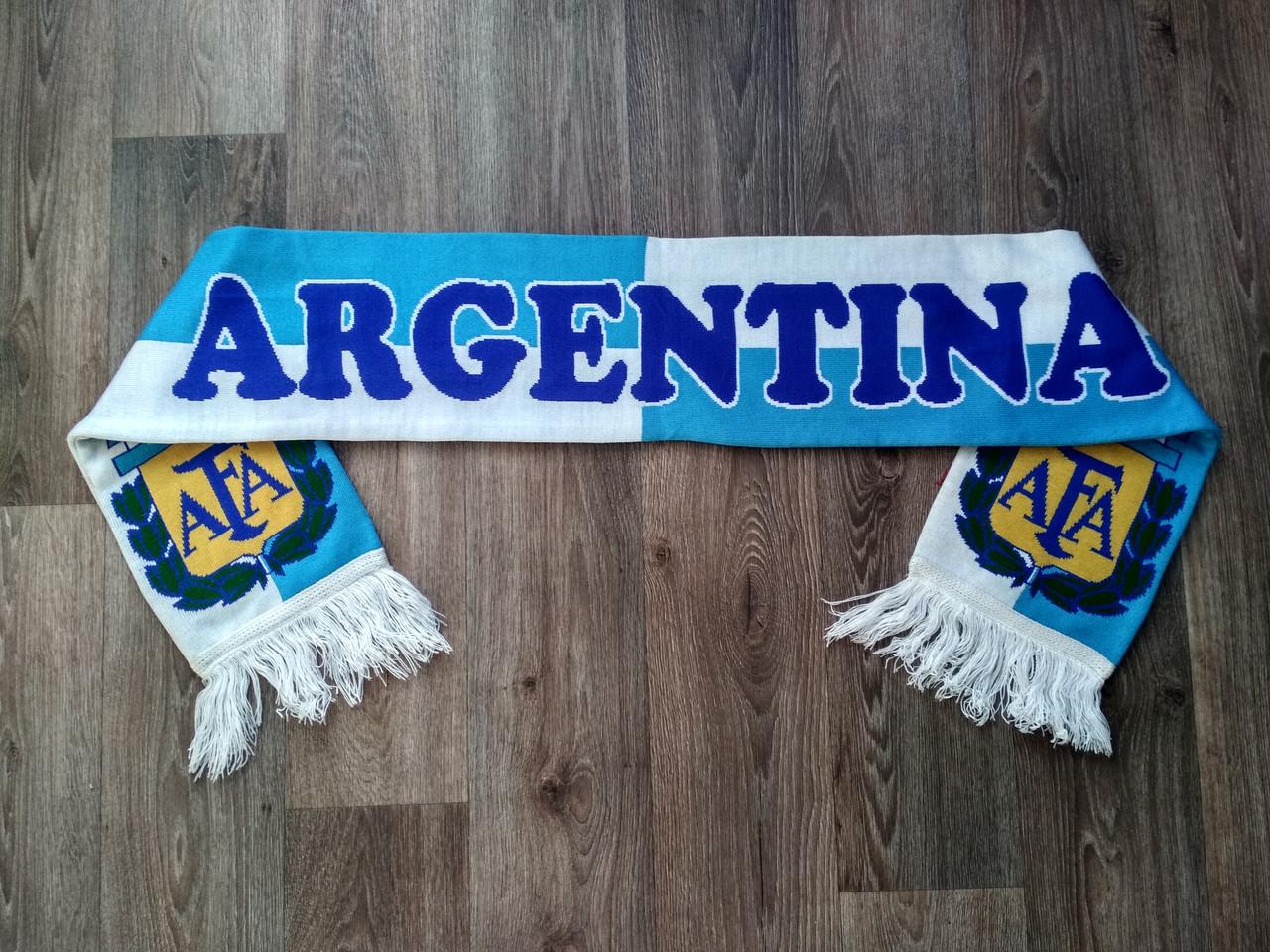 Футбольный шарф Аргентина синий