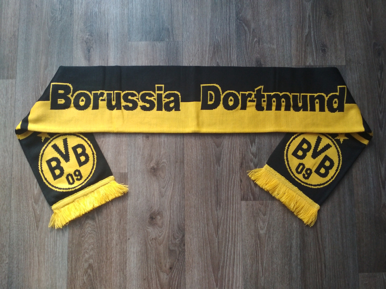 Футбольный шарф Боруссия Дортмунд желтый