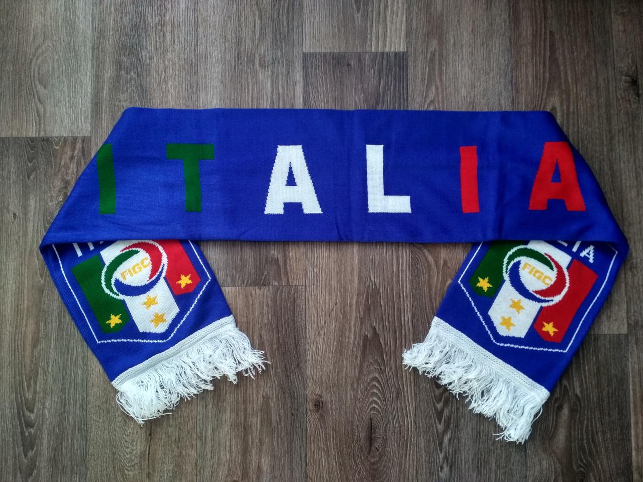 Футбольний шарф Італія синій