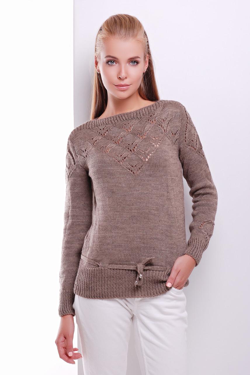 Вязаные шерстяные женские свитера Лагода-6 с акрилом