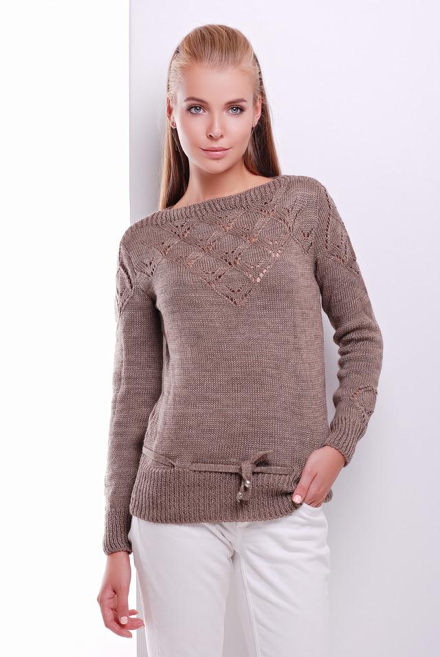 Фото Вязаных шерстяных женских свитеров Лагода-6 с акрилом