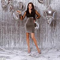 Красивое коктейльное женское платье с люрексом