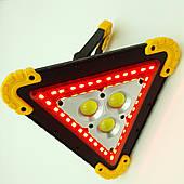 Аккумуляторный LED прожектор IP65 светодиодный фонарь 3COB+35SMD RED со знаком аварийной остановки W838