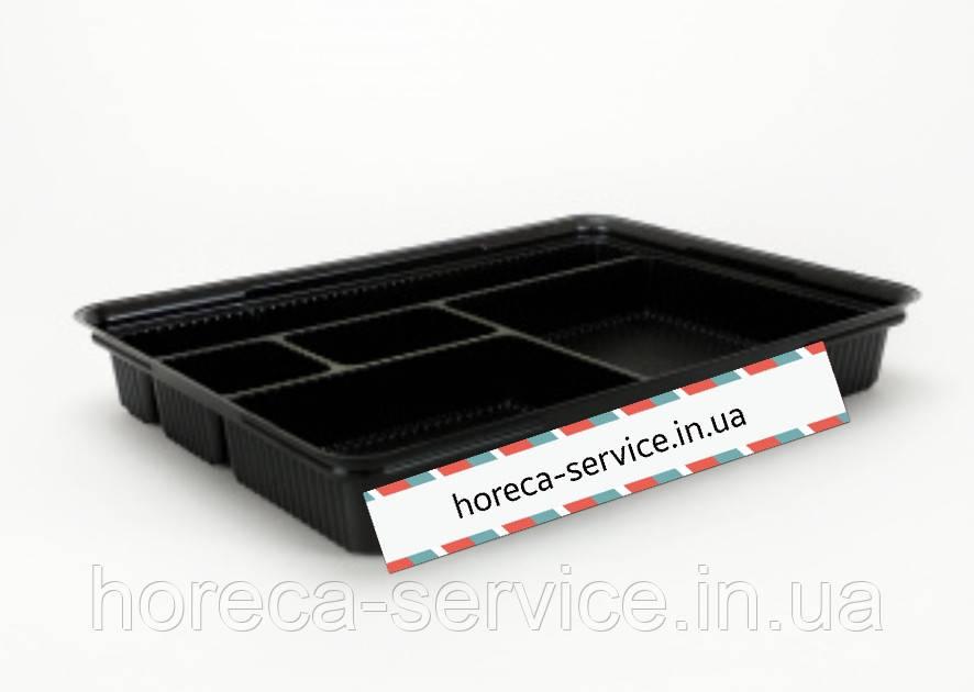 Пластиковая черная упаковка для суши АПС-610 278*195*40