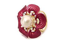 Кольцо для платков красный цветок