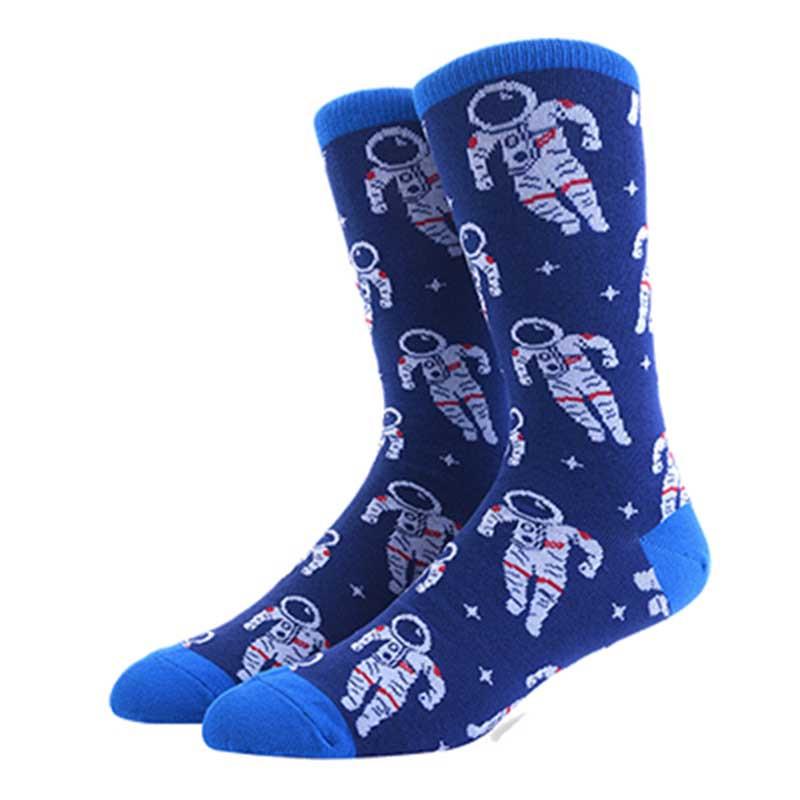 Прикольные мужские носки с принтом Космонавта
