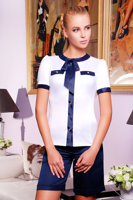 блузки белые для офиса фото