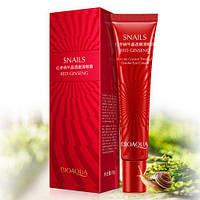 Антивозрастной крем для век с экстрактом улитки и красного женьшеня Bioaqua Snails&Red Ginseng Eye Cream (20г)