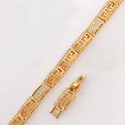 "Браслет Xuping Jewelry 17/19 см ""Греческий"" медицинское золото, позолота 18К. А/В 4674"