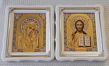 Вінчальна пара ікон Пресвята Богородиця і Спаситель 21х24см
