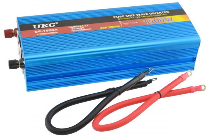 Инвертор авто преобразователь напряжения с чистой синусоидой 12v в 220v AC/DC 1500W UKC