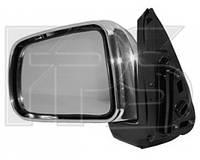 Правое зеркало Хонда ЦРВ -01 электрический привод; без обогрева; хромированное; выпуклое / HONDA CRV (1997-2001)