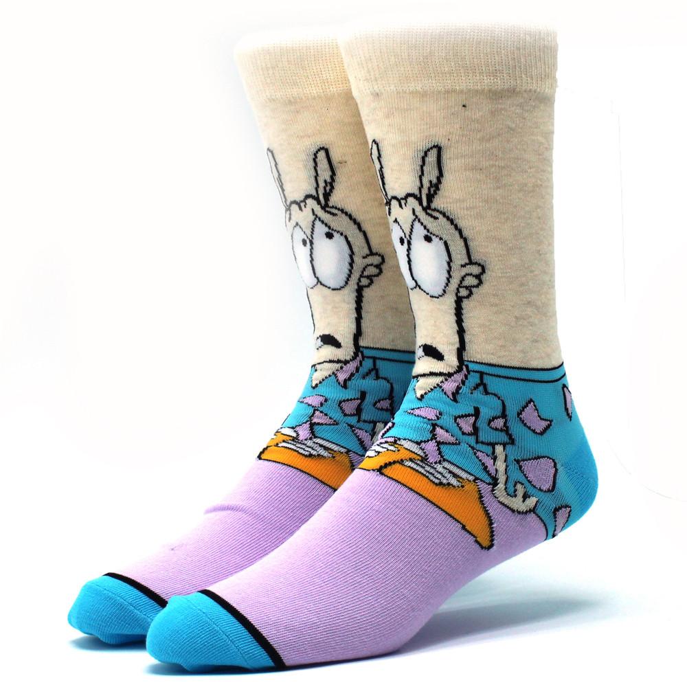 Мультяшні високі чоловічі шкарпетки Рокко