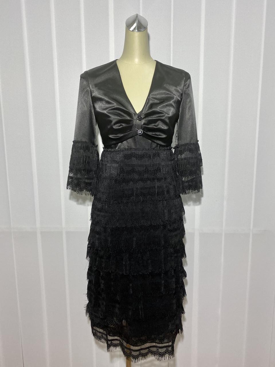 Платье Eveline c болеро кружевное нарядное черное