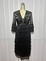 Платье Eveline c болеро кружевное нарядное черное, фото 1