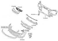 Решетка Хюндаи Гетц 06-11 внешняя + внутренняя с хром. молдингом / HYUNDAI GETZ (2002-2011)