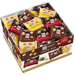 Набір шоколадних цукерок Ritter Sport mini Nuss Mix з цільним горіхом, 1100 грам