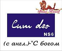 """""""С богом"""" трафаретная надпись №-NS6"""