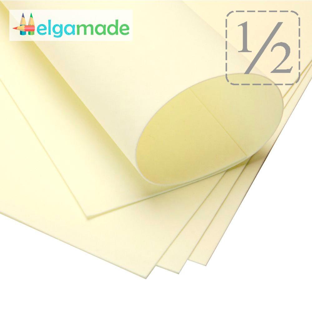 Фоамиран СВЕТЛО-ЛИМОННЫЙ, 1/2 листа, 30x70 см, 0.8-1.2 мм, Иран