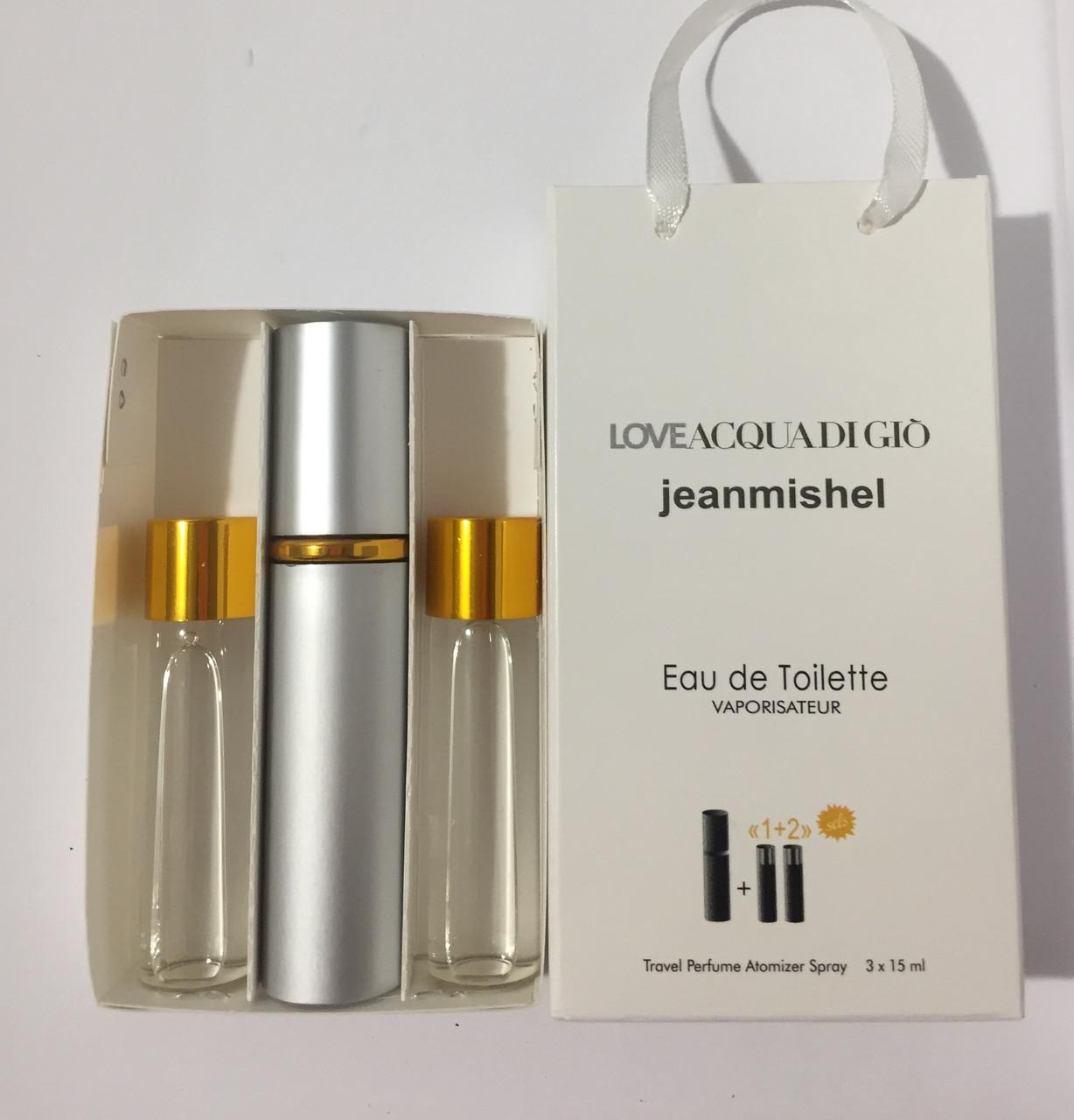 Мини парфюм в подарочной упаковке jeanmishel loveAcqua Di Gio 45мл