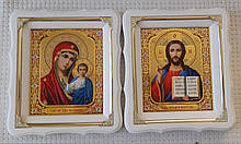 Ікони Вінчальна пара Пресвята Богородиця і Спаситель 21х24см
