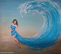 Морской пейзаж маслом картина Морская волна