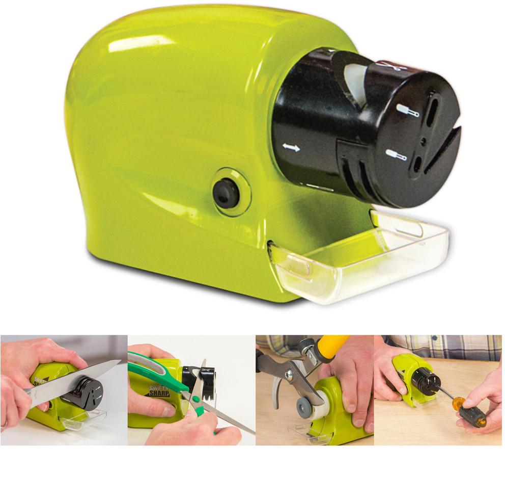 Универсальная электрическая точилка для ножей и ножниц Swifty Sharp Sharpener