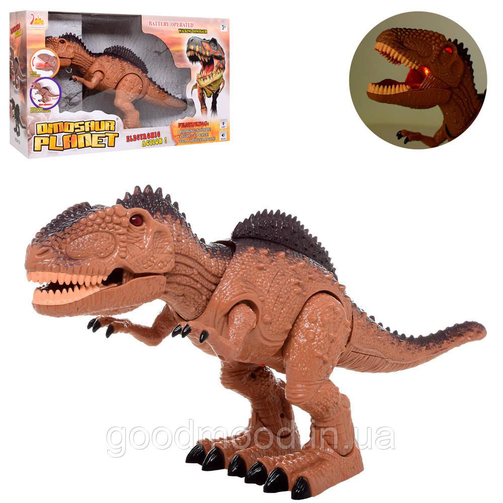 Динозавр RS6177 49см, ходить, звук, світло, подвижн.деталі, на бат-ке,в кор-ке, 53-32-15см