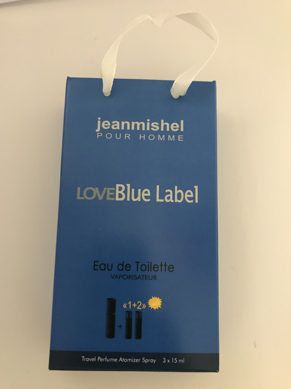 Мини парфюм в подарочной упаковке jeanmishel loveBlue Label 45мл