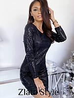 Женское платье голограмма черный золото 42-44 44-46, фото 1