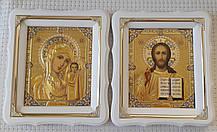Вінчальна пара ікони Пресвята Богородиця і Спаситель 21х24см