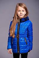 """Детская демисезонная куртка для девочки """"Маша"""" синяя"""