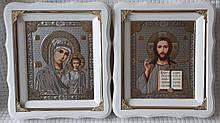 Ікони на вінчання Вінчальна пара під срібло 21х24см
