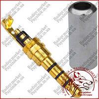 Штекер 3,5мм 4C, Sennheiser, металл. корпус, cеребристый (1-0045SV)