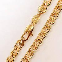 Цепочка Xuping 60 см х 6 мм Лав медицинское золото позолота 18К А/В 3-0056
