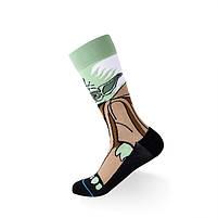 Высокие мужские носки Мастер Йода, фото 2
