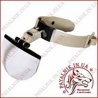 Увеличительные очки MG81003, бинокуляр с подсветкой, большая основная линза, удобное крепление