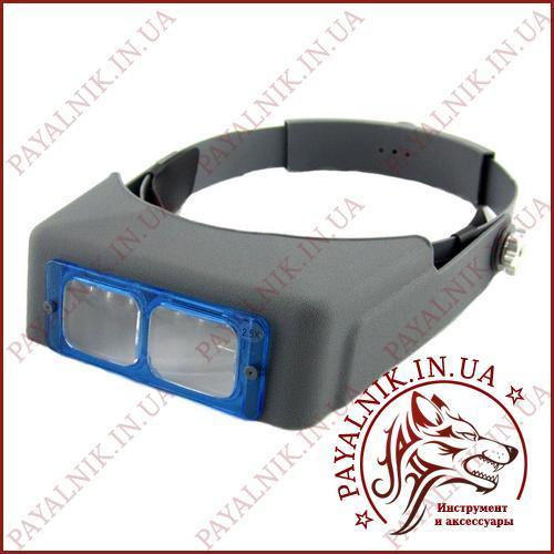 Бінокулярна лупа окуляри MG 81007-B з лінзою 2.5 Х