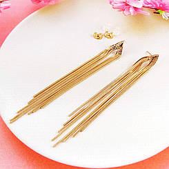 Серьги подвески Xuping Jewelry медицинское золото, позолота 18К А/В 4688
