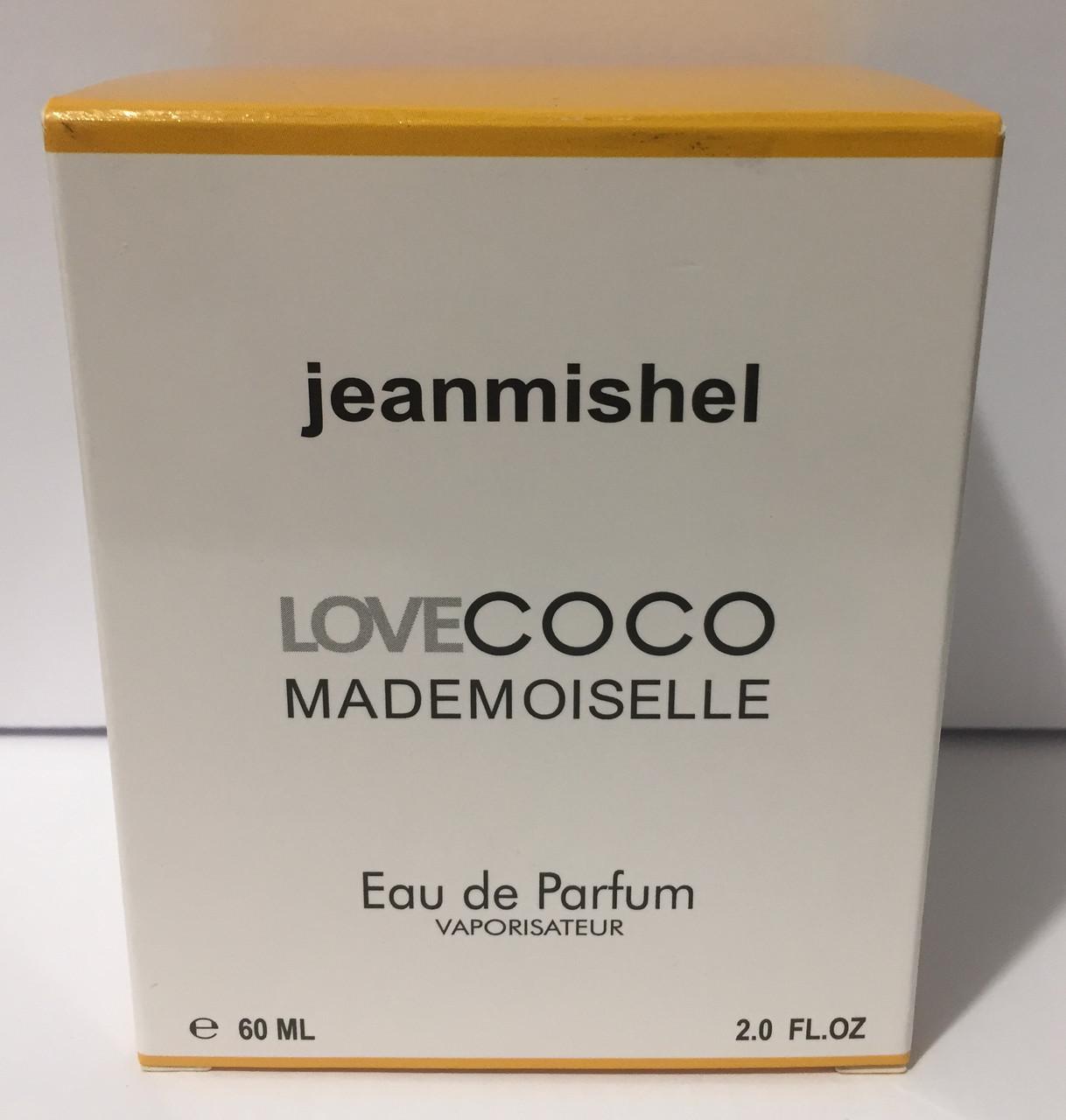 Тестер в подарочной упаковке jeanmishel loveCoco mademoiselle 60 мл