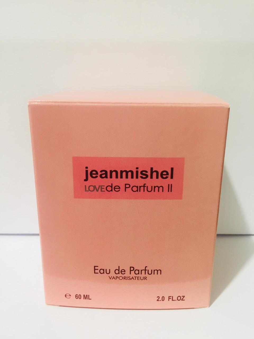 Тестер в подарочной упаковке jeanmishel love de parfum 2 60 мл