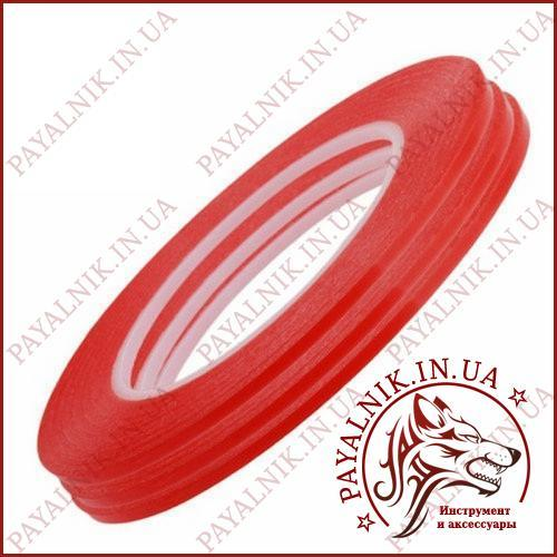 Скотч 3M двухсторонний ширина 4мм красный (0.25мм., 30м.)