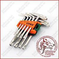 Набор ключей TORX с отверстием Crad T10-T50мм 9шт. (4022275)