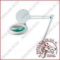 Лупа-лампа на струбцине 8062D3 LED подсветка (84SMD), 3 диоптр., диам-180мм
