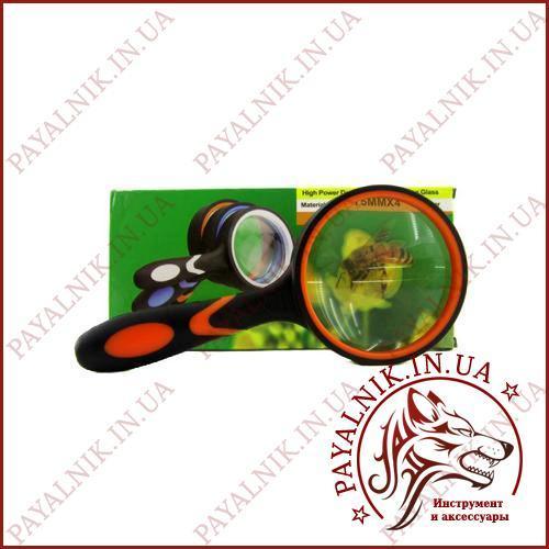 Лупа ручная (увеличительное стекло) Magnifying glass. Стеклянная линза 4x - 75мм.