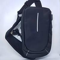 Рюкзак антивор с защитой  и USB-портом мини Mini черный